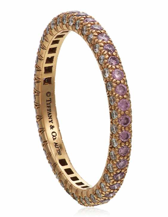TIFFANY & CO. COLORED DIAMOND AND DIAMOND 'ETOILE' ETERNITY BAND - photo 3