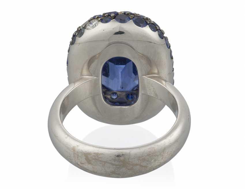 SAPPHIRE AND DIAMOND RING - photo 4