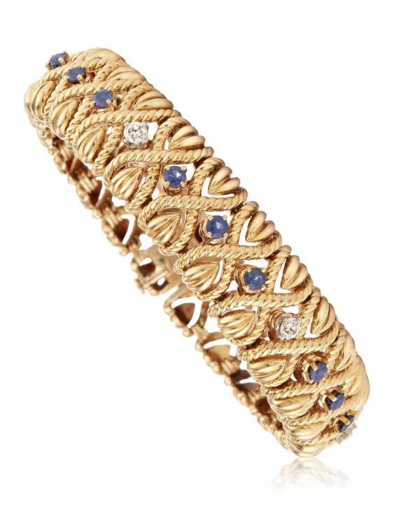 VAN CLEEF & ARPELS DIAMOND AND SAPPHIRE BRACELET - photo 1