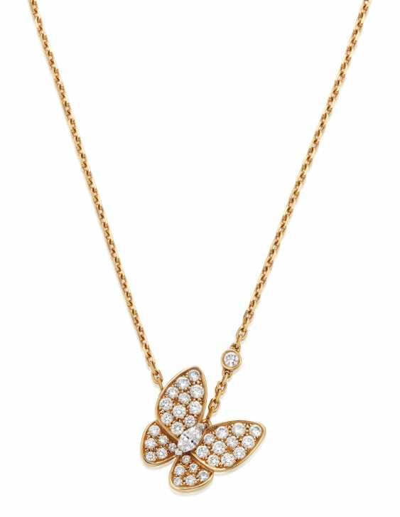 VAN CLEEF & ARPELS DIAMOND BUTTERFLY PENDANT NECKLACE - photo 1