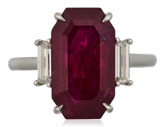 RUBY AND DIAMOND RING - photo 1