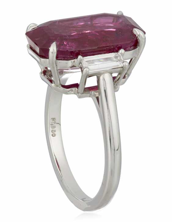 RUBY AND DIAMOND RING - photo 3