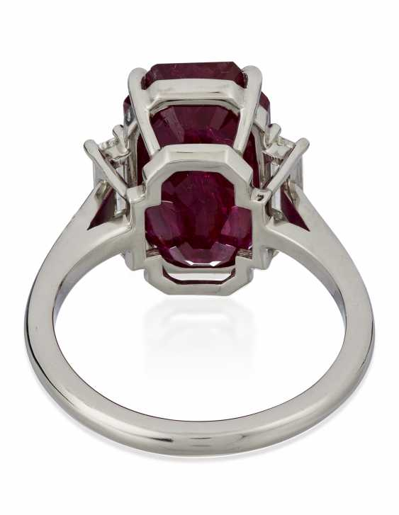 RUBY AND DIAMOND RING - photo 4