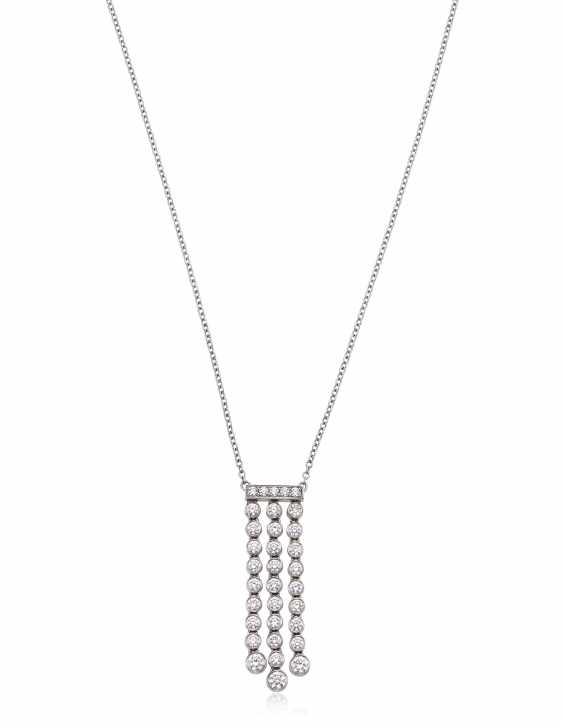 TIFFANY & CO. DIAMOND 'JAZZ' PENDANT NECKLACE - photo 1