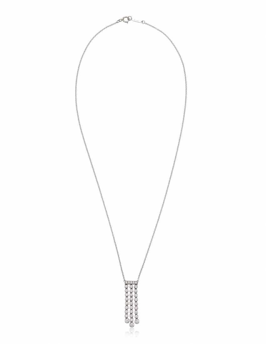 TIFFANY & CO. DIAMOND 'JAZZ' PENDANT NECKLACE - photo 3