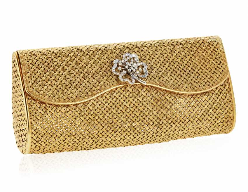 DIAMOND AND GOLD EVENING BAG - photo 1