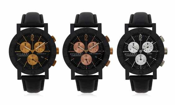 SET OF BULGARI 'CARBONGOLD' WATCHES - photo 1