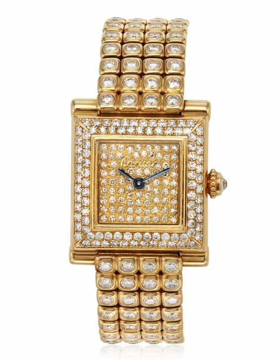 CARTIER DIAMOND WRISTWATCH - photo 1