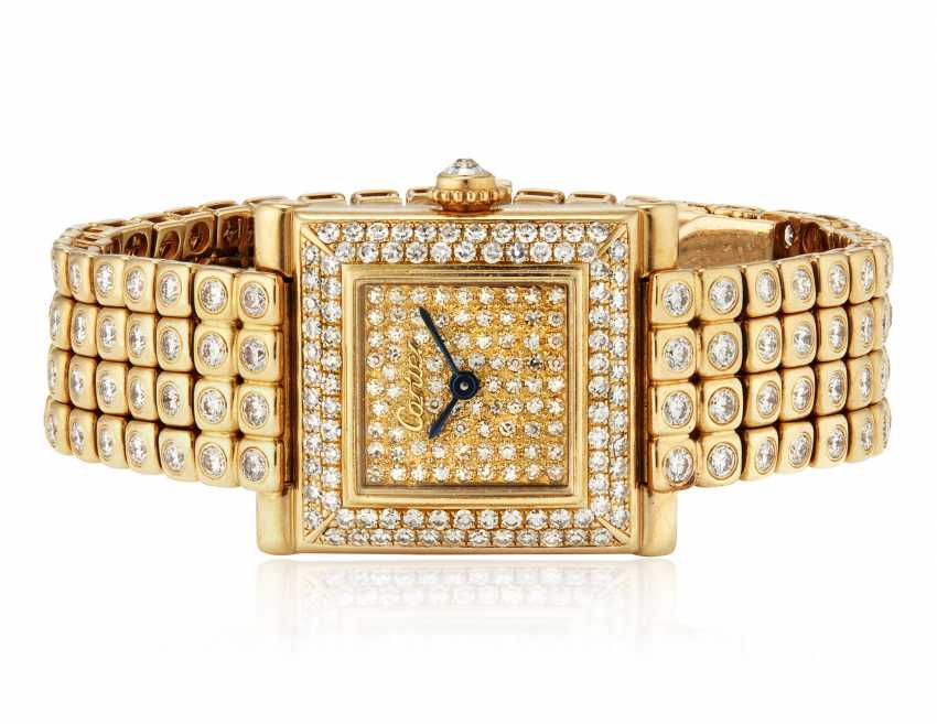 CARTIER DIAMOND WRISTWATCH - photo 4