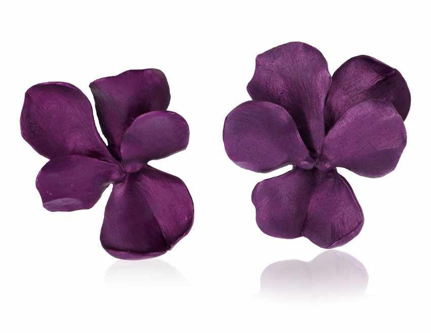 JAR ALUMINUM 'PANSY' EARRINGS - photo 1