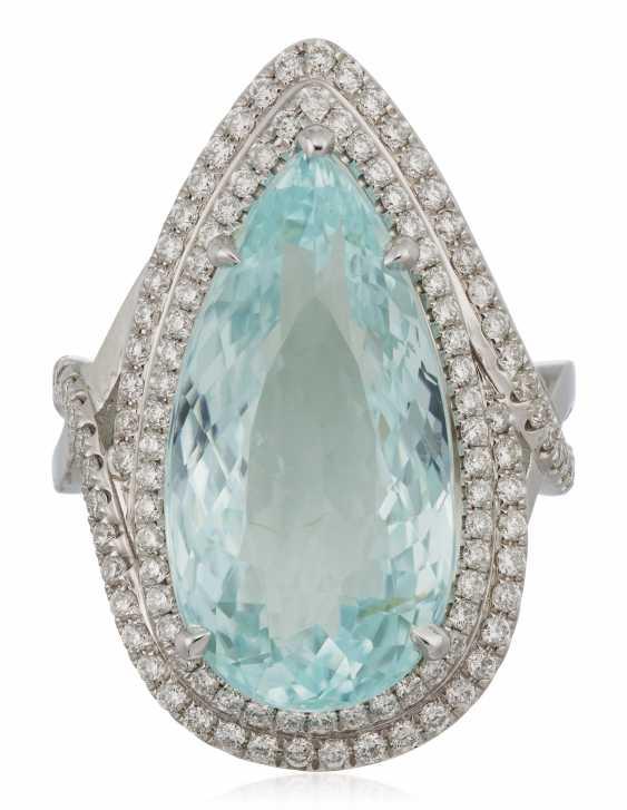 TOURMALINE AND DIAMOND RING - photo 1