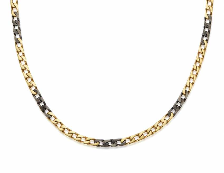 BULGARI GOLD AND STEEL NECKLACE - photo 1