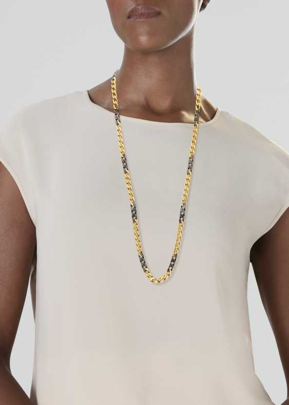 BULGARI GOLD AND STEEL NECKLACE - photo 2