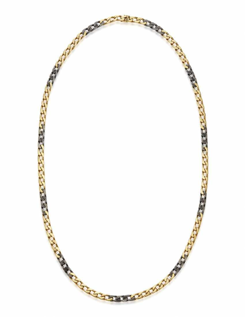 BULGARI GOLD AND STEEL NECKLACE - photo 3