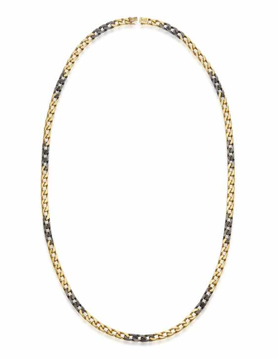 BULGARI GOLD AND STEEL NECKLACE - photo 4