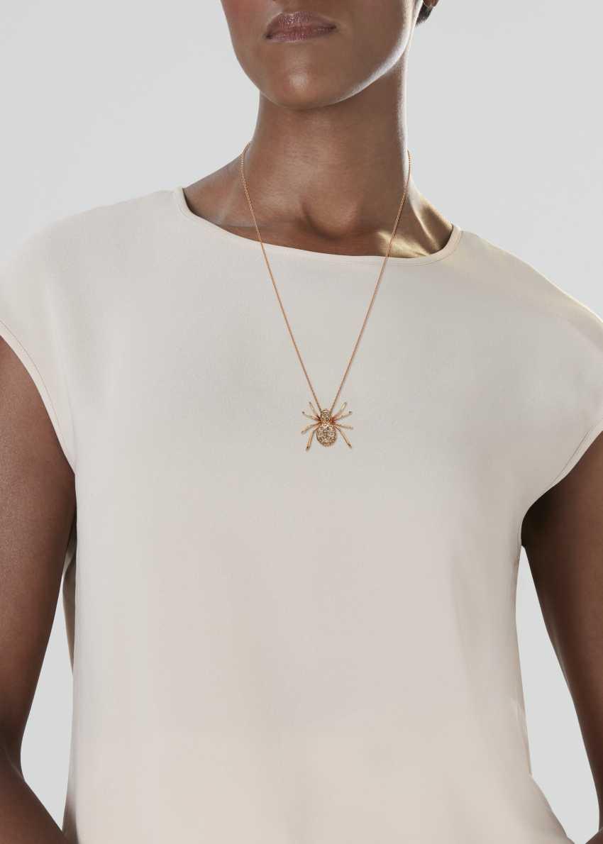 COLORED DIAMOND SPIDER PENDANT NECKLACE - photo 2