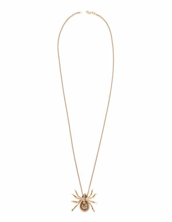 COLORED DIAMOND SPIDER PENDANT NECKLACE - photo 4