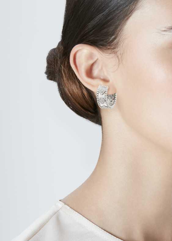 VAN CLEEF & ARPELS DIAMOND 'PERLÉE' HOOP EARRINGS - photo 2