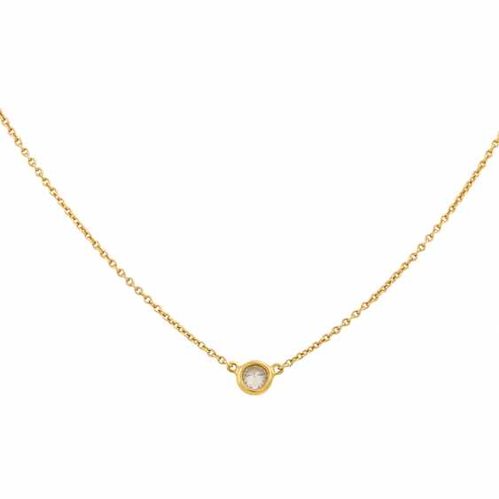 Chain with a small brilliant approx. 0.12 ct, - photo 2