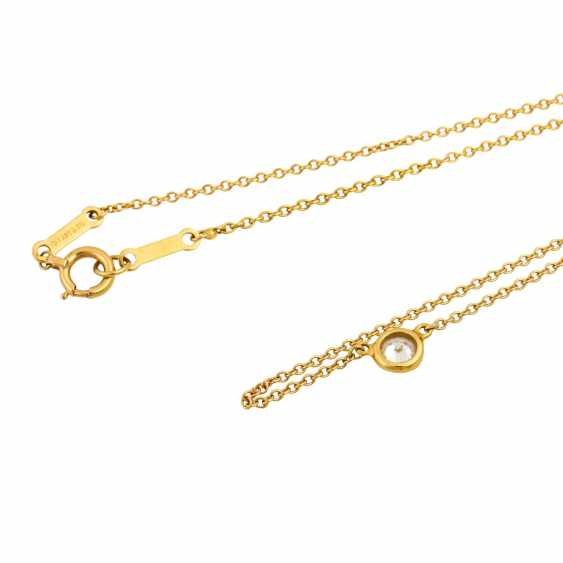 Chain with a small brilliant approx. 0.12 ct, - photo 4