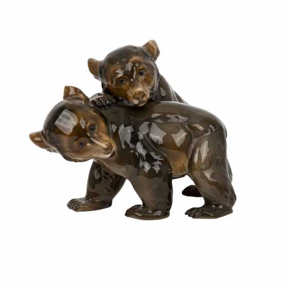 ROSENTHAL figure group '2 little bears', brand from 1940. - photo 1