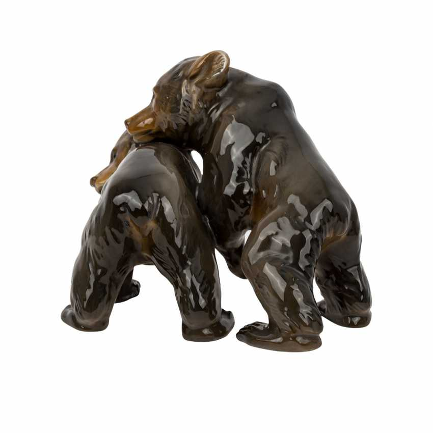 ROSENTHAL figure group '2 little bears', brand from 1940. - photo 2