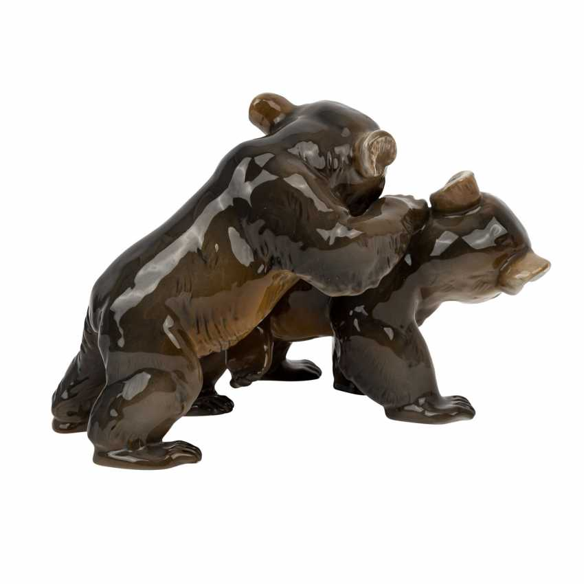 ROSENTHAL figure group '2 little bears', brand from 1940. - photo 3