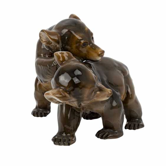 ROSENTHAL figure group '2 little bears', brand from 1940. - photo 4