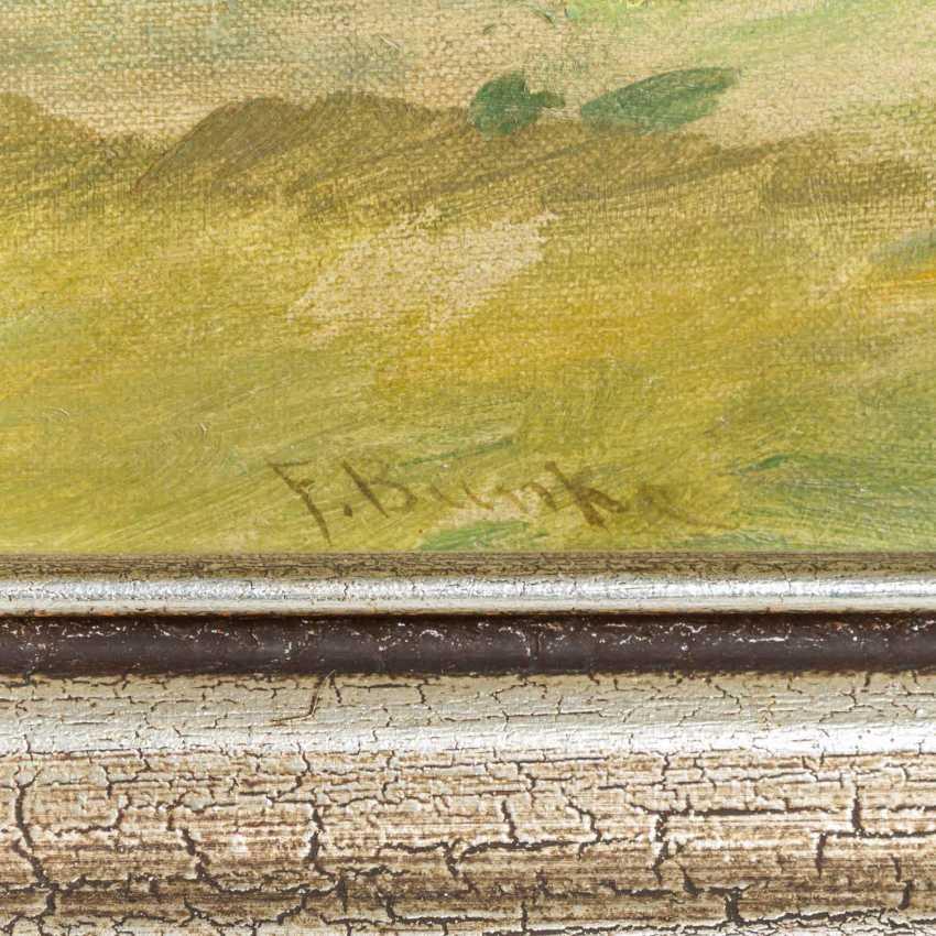 """BUNKE, FRANZ (Schwaan 1857-1939 Oberweimar), """"Wide moor landscape with pond"""", - photo 3"""