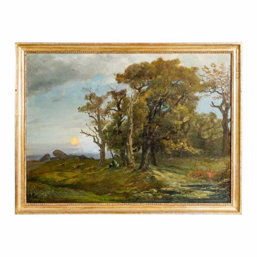 """PRELLER (artist 19th / 20th century), """"Rising sun over a plateau with a forest"""", - photo 2"""