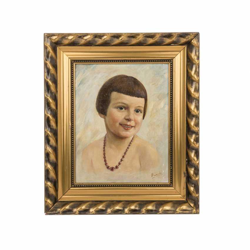 PAULI (artist of the 20th century) 'girl portrait'. - photo 1