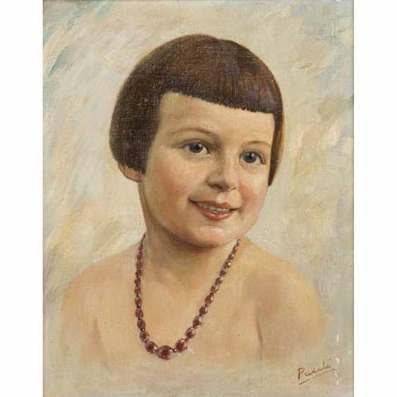 PAULI (artist of the 20th century) 'girl portrait'. - photo 2