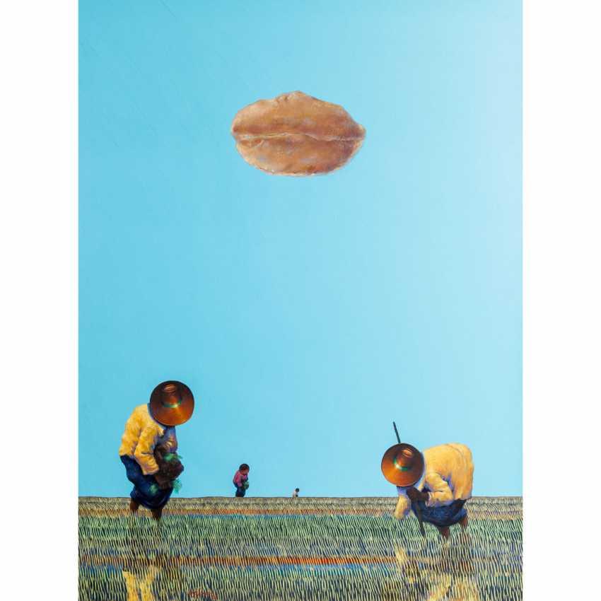 "BLANCO, DIONISIO (born 1953), ""Rice farmers in a wide field"", - photo 1"