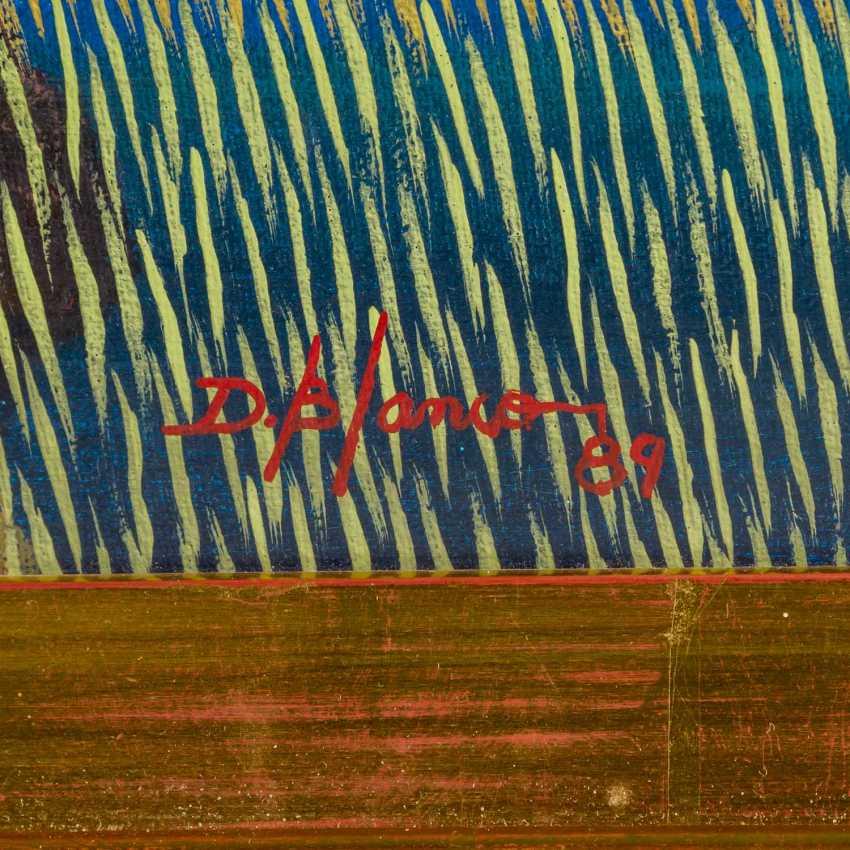 "BLANCO, DIONISIO (born 1953), ""Rice farmers in a wide field"", - photo 3"