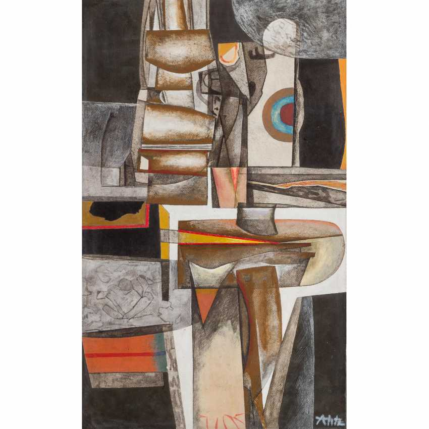 """HETZ, ALFRED (1913-1974), """"Abstract Composition"""", - photo 1"""