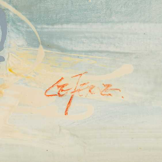"LEFEVRE? (indistinctly signed, artist 20th century), ""Radrennen"", - photo 3"