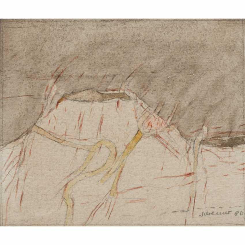 """SCHREINER, HANS (born 1930), """"Abstract volcanic landscape"""", - photo 1"""
