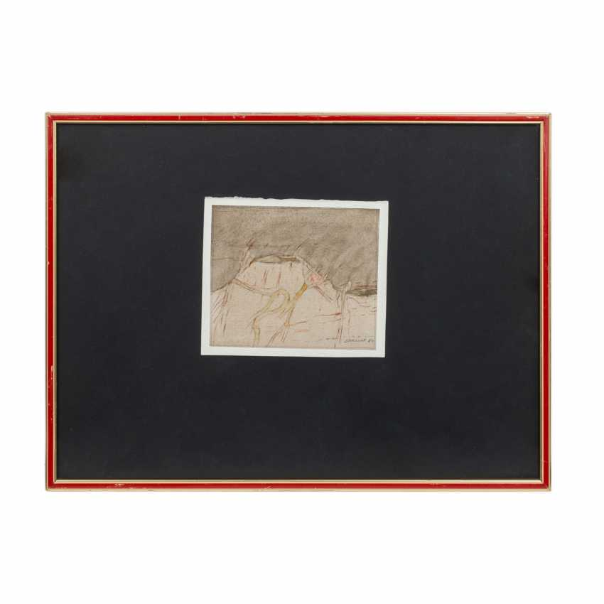 """SCHREINER, HANS (born 1930), """"Abstract volcanic landscape"""", - photo 2"""