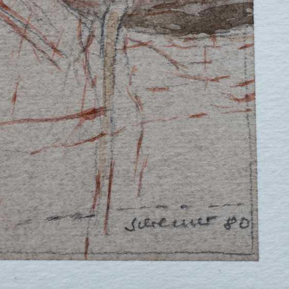 """SCHREINER, HANS (born 1930), """"Abstract volcanic landscape"""", - photo 3"""