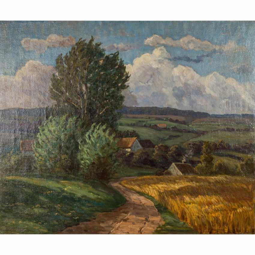 """HAAG, ROBERT (Stuttgart 1886-around 1955), """"Swabian landscape in late summer"""", - photo 1"""