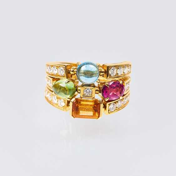 Color and gemstone diamond ring 'Allegra' - photo 1