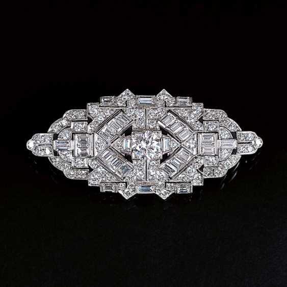 Art-deco Diamant-Brosche - photo 1