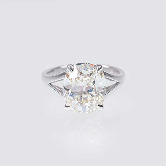 Top-class solitaire diamond ring - photo 2