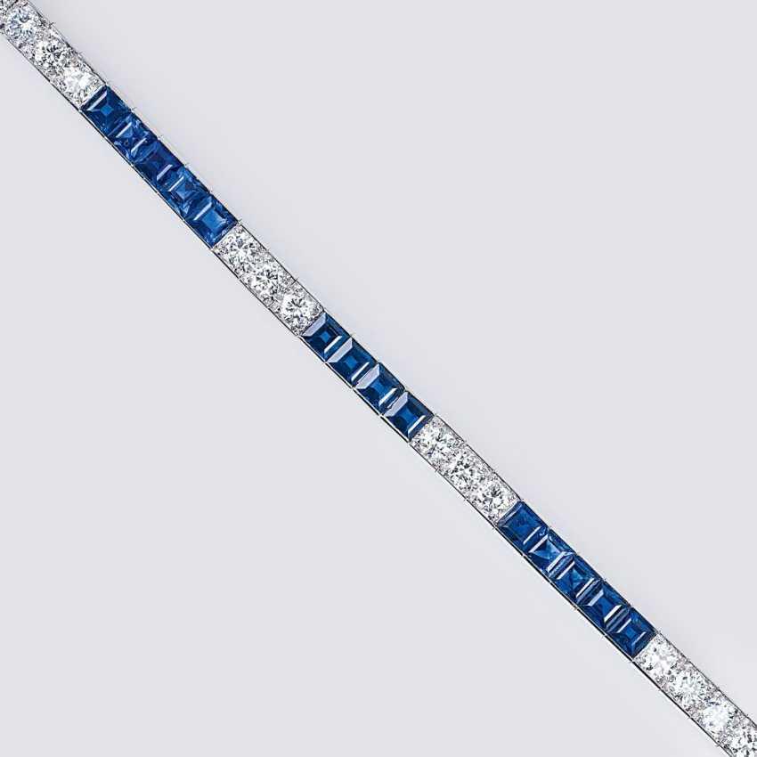 Sapphire and diamond bracelet - photo 1