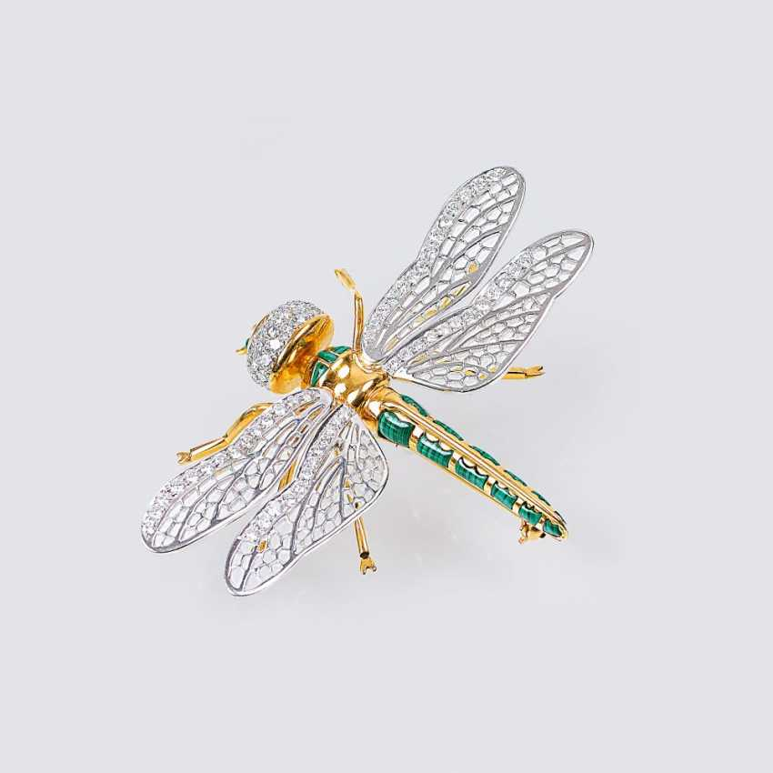 'Dragonfly' diamond brooch - photo 1
