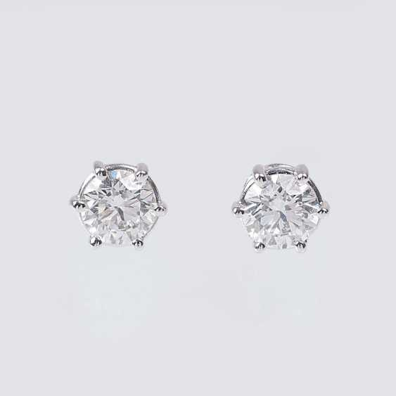 Pair of River Solitaire Stud Earrings - photo 1