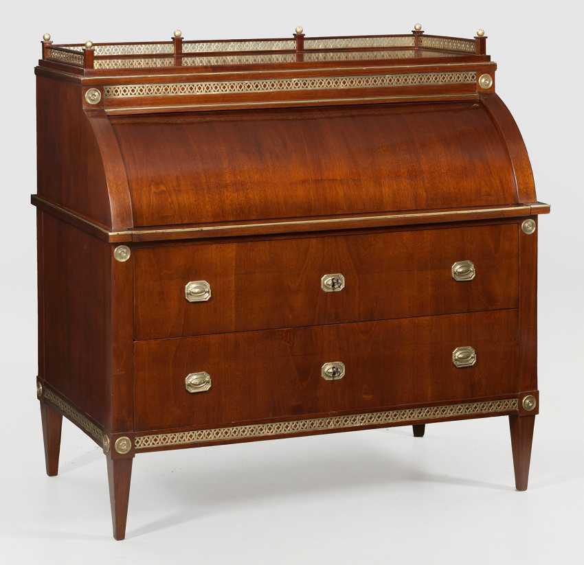 Louis XVI cylinder Bureau - photo 1
