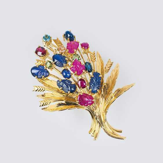 Vintage brooch 'bouquet of flowers' - photo 1
