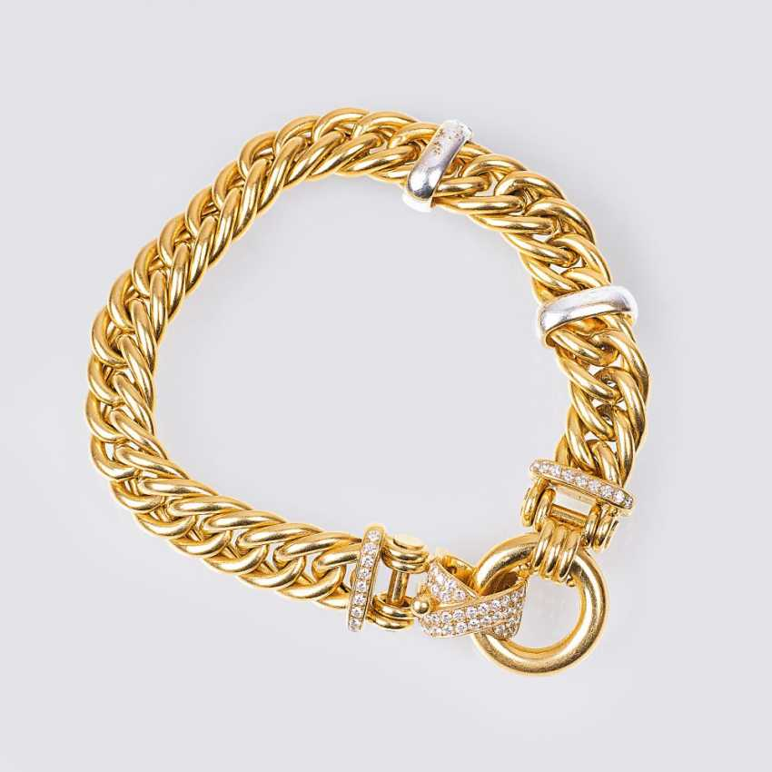 Curb bracelet with diamonds - photo 1