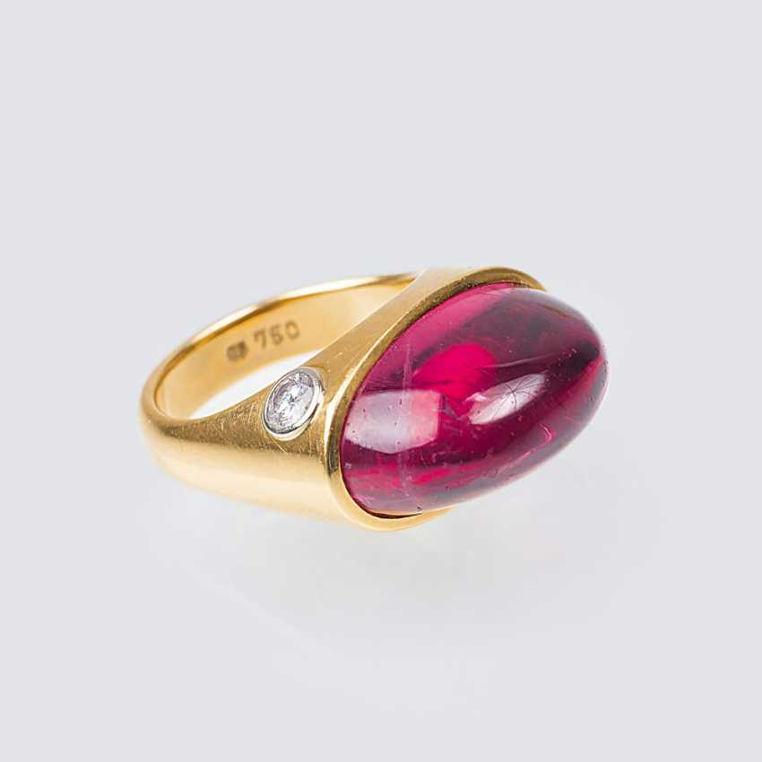 Modern tourmaline ring with solitaire - photo 1